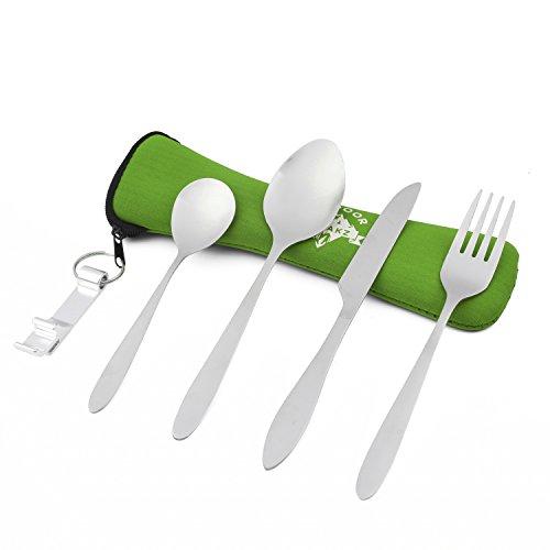 outdoor-freakz-posate-in-acciaio-inossidabile-da-campeggio-con-custodia-in-neoprene-verde