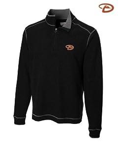 Arizona Diamondbacks Mens Overtime Half Zip Overknit Jacket Black by Cutter & Buck
