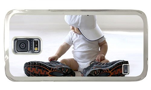 Hipster For Sale Samsung S5 Cases Baby With Big Shoes Pc Transparent For Samsung S5 front-915452