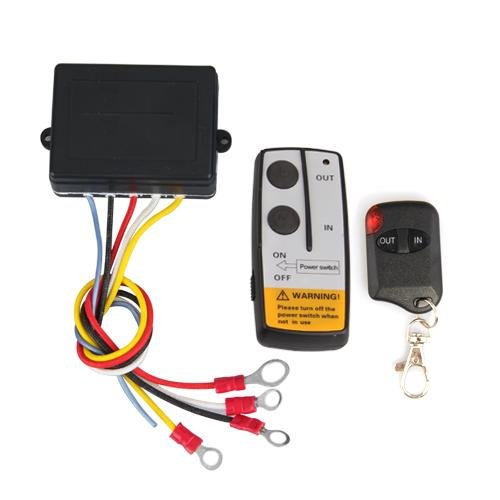 Zimo-12V-50ft-Funkfernbedienung-Wireless-Elektrische-Seilwinde-Fernbedienung-Controller-set-fr-LKW-Jeep-ATV-Warn-Ramsey