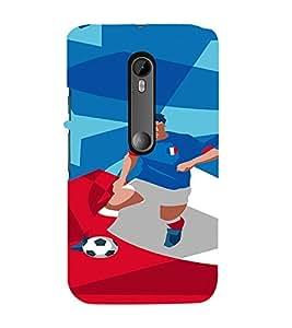 PrintVisa Sports Football France Design 3D Hard Polycarbonate Designer Back Case Cover for Motorola Moto G3