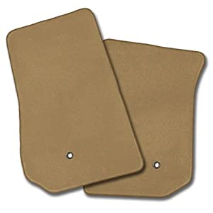 Coverking Front and Rear Custom Fit Floor Mat Set for Select Chevrolet Tracker Models - 70 Oz Carpet (Oak)