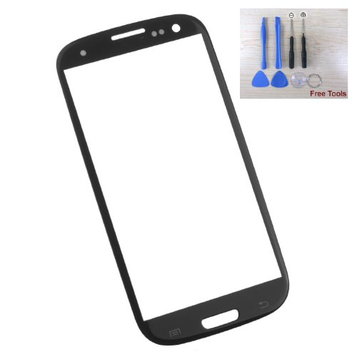 Lcd Screen Glass Outer Lens Replacement For Samsung Galaxy S3 T-Mobile Sgh-T999 / At&T Sgh-I747 / Verizon Sch-I535 / Sprint Sph-L710 / Us Cellular Sch-R530 / Gt-I9300 With Free Tools Set (Black)