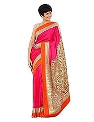 EthnicPark Self Design Fashion Handloom Georgette Sari