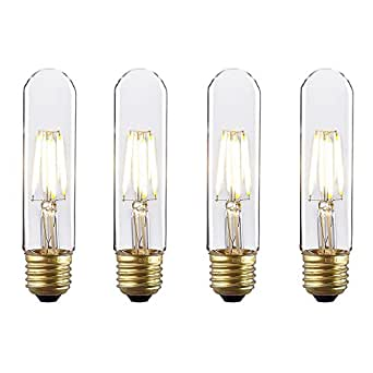 kiven dimmable instant on filament led bulbs 4w t10. Black Bedroom Furniture Sets. Home Design Ideas