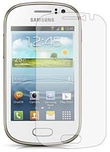 6 x Membrane Displayschutzfolie Samsung Galaxy Fame (GT-S6810 / S6812 Duos / S6810P / S6818 / S6812C) - Unsichtbar Schutzfolie, Verpackung und Zubehör