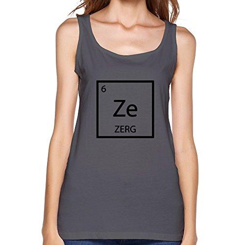 ZULA Women's Funny Starcraft Game Zerg Symbol Waistcoat DeepHeather Size L