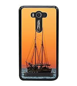 Boat in the Sea 2D Hard Polycarbonate Designer Back Case Cover for Asus Zenfone 2 Laser ZE550KL (5.5 INCHES)