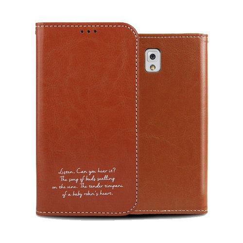 Galaxy S4 ケース Airlink Flip Case ギャラクシー S4 手帳型 フリップ ケース ブラウン(Brown) / SC-04E 携帯 スマホ スマートフォン モバイル ケース カバー ダイアリー カード 収納 ポケット スロット