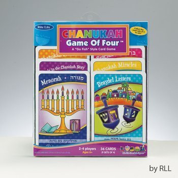 "The Game Of Four - Chanukah Game, A ""Go Fish"" Style Card Game - 1"