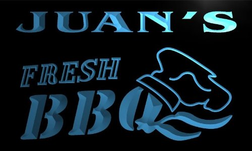 X0052-Tm Juan'S Fresh BBQ Shop Custom Personalized Name Neon Sign
