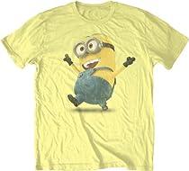 Despicable Me Strolling Minion Mens Yellow T-shirt L