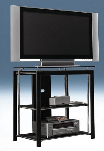 Cheap Bush Midnight Mist Collection Metal Plasma TV Stand Video Base (AZ87-9667)