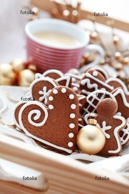 Wallmonkeys Peel and Stick Wall Graphic - Gingerbreads with Coffee - 24