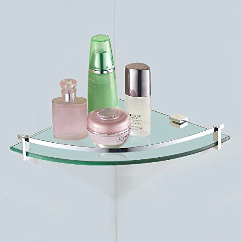 Bathroom corner shelf tempered glass shower storage bath - Bathroom glass corner shelves shower ...