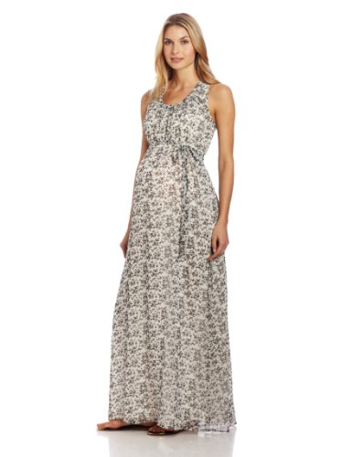 Ingrid & Isabel Women'S Maternity Floral Print Maxi Dress, Ditzy Floral, Medium front-610149