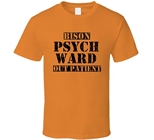 [Bison South Dakota Psych Ward Funny Halloween City Costume T Shirt M Orange] (M Bison Costume)