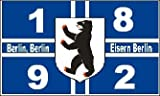 Berlin 1892 Kreuz Fussball Fahne Flagge Grsse 1,50x0,90m - FRIP -Versand