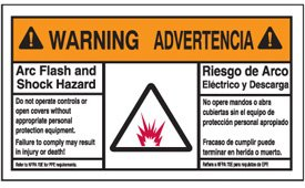 Bilingual warning arc flash label amazoncom industrial for How to read arc flash labels