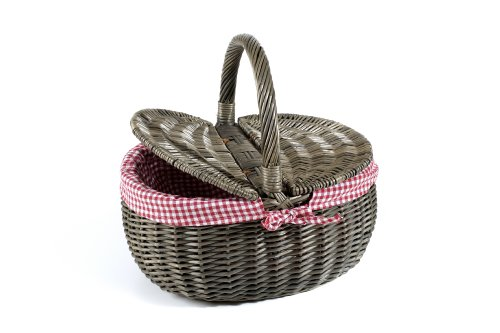Nantucket Bike Basket CompanySteps Beach Collection Picnic Bicycle Basket with Quick Release