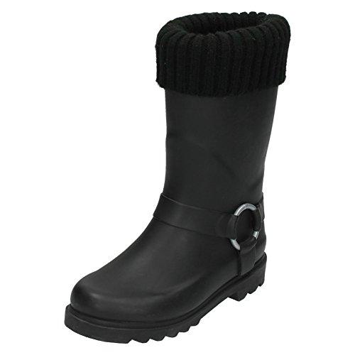 Spot On, Stivali di gomma donna, Nero (nero), 36