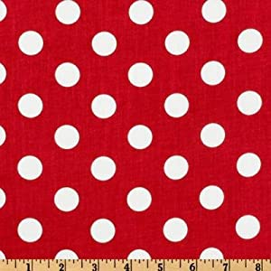 Amazon.com: Forever Large Polka Dot Red Fabric