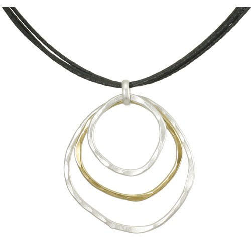 Marjorie Baer Two Toned Necklace on Leather Cords