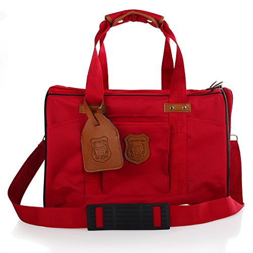Dogloveit Travel Dog Carrier Bag For Puppy Pet,Red,16-Inch