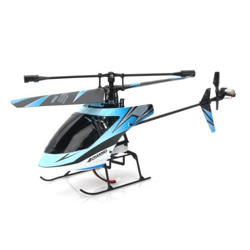 Image of Amazing Tech Depot Blue Outdoor Single Blade 2.4g 4ch Micro Gyro Rc Helicopter 359