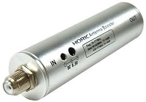 HORIC アンテナブースター 室内・地デジ(UHF/VHF)専用 中継タイプ HAT-ABS024