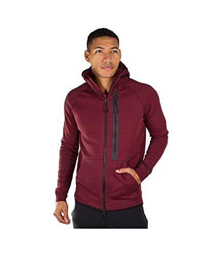 Nike Tech Fleece Hero Zip-Up Hoodie (Red) Men's 708095 667 Medium (Alternative Zip Up Hoodie compare prices)