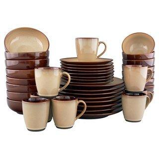 Sango Nova Brown Stoneware Dinnerware Set 40 Piece