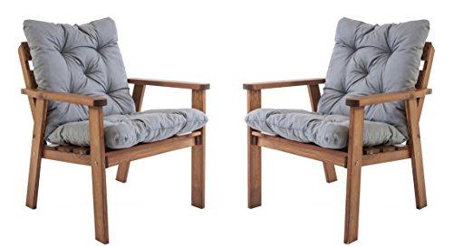 Ambientehome-Gartensessel-Loungesessel-Sessel-Gartenstuhl-Massivholz-inkl-Kissen-HANKO-braun-2-teiliges-Set
