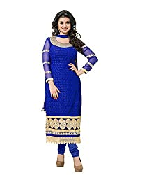 Tomorrow Culture Blue Georgetter Dress Material
