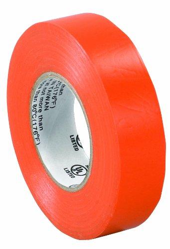 "Aviditi T96461810Pka Electrical Tape, 20 Yds Length X 3/4"" Width, Orange (Case Of 10)"