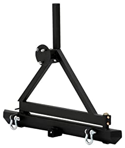 Smittybilt 76651D SRC Classic Rear Bumper with D-Ring and Textured Black Tire Carrier : Amazon.com : Automotive