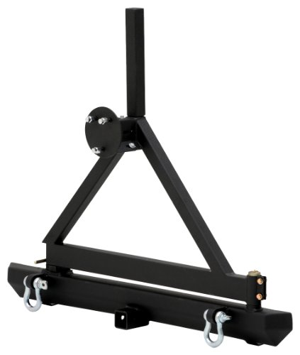 Smittybilt 76651D SRC Classic Rear Bumper with D-Ring and Textured Black Tire Carrier (Rear Tj Bumper compare prices)