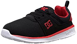 DC Heathrow Casual Skate Shoe (Toddler/Little Kid/Big Kid), Black/Red/White, 10 M US Toddler