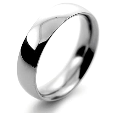 Platinum Wedding Ring Court Very Heavy - 5mm