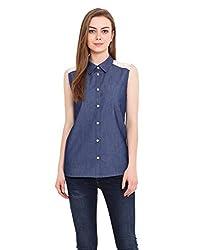 Blink Blue Coloured Denim Shirt Medium