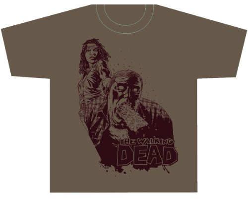 Walking Dead Michonne Comic T-shirt , Brown
