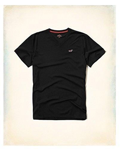 hollister-hco-logo-mens-striple-and-plain-t-shirt-tee-s-black-2-plain