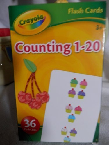 Crayola Counting 1-20 Flash Cards, Set of 36 Flash Cards - 1