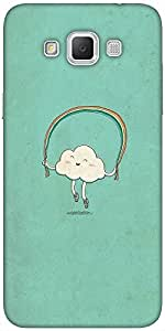 Snoogg Cartoon Cloud Designer Protective Back Case Cover For Samsung Galaxy G...