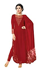 Sitaram womans semistitched georgette long kurta with sequence embroidery type dress material.