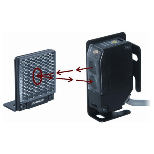 Enforcer Indoor/Outdoor Wall Mounted Photoelectric Beam Sensor with 35 Foot Range