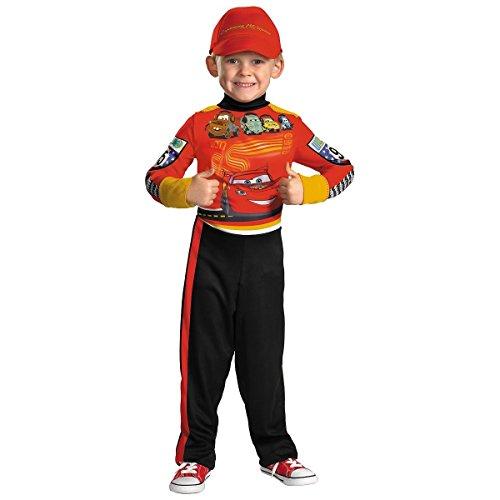 GSG Lightning Pit Crew Costume Toddler/Kids Cars Racecar Fancy Dress (Musketeers Fancy Dress)