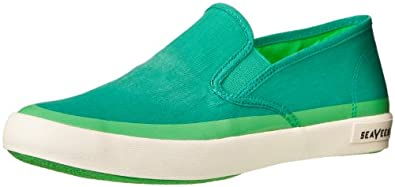 SeaVees Men's Baja Slip On Pop Fashion Sneaker,Deco Green,7.5 M US