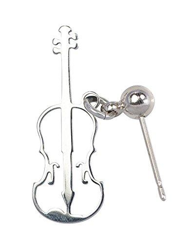 Ohrringe-aus-Edelstahl-Geige-Schnes-Geschenk-fr-Musiker-mit-Geschenkverpackung