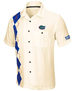 Florida Gators NCAA Castaway Premium Camp Button Down Shirt by Colosseum